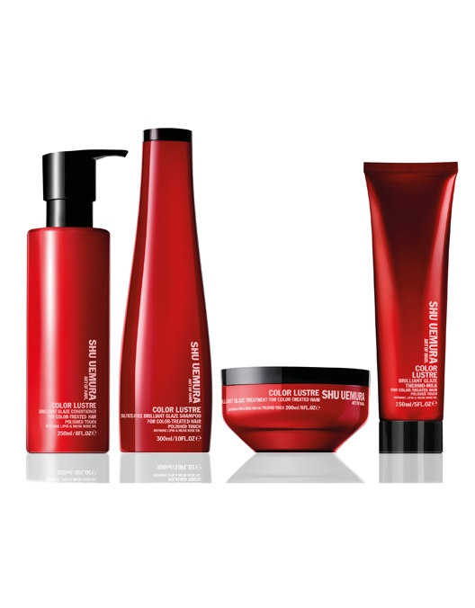 Shu Uemura Color Lustre All in One (Shampoo, Conditioner, Treatment and Thermo Milk)